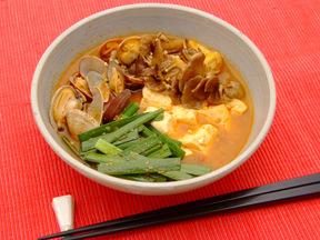 アサリの豆腐チゲ