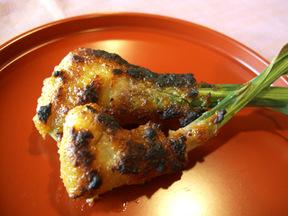 葉ショウガの味噌焼き