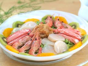海鮮入り芝麻醤麺(チーマージャンメン)