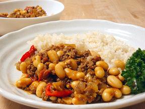ひき肉と豆のカレー