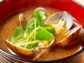 アサリとミツバの味噌汁