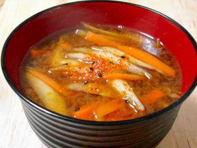 きんぴらの味噌汁