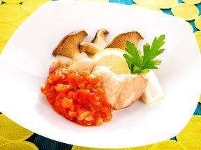 エリンギと鶏肉のロースト トマトソース
