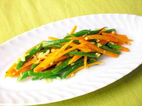 ニンジンといんげんのカレー風味サラダ