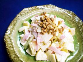 リンゴとセロリのマヨネーズサラダ