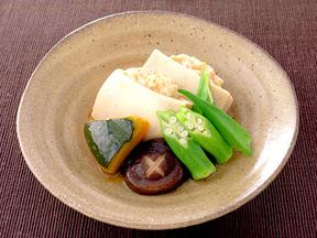 高野豆腐の鶏肉射込み煮