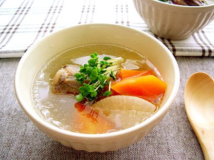 圧力鍋で簡単!牛肉のテールスープ