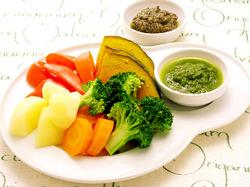 圧力鍋で簡単!蒸し野菜と2..