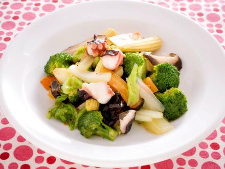 タコと野菜の中華炒め