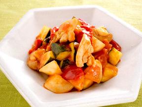 若鶏と野菜の甘酢煮