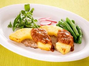 豚ヒレ肉のパインステーキ