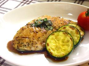 白身魚の香草焼き バルサミコソース