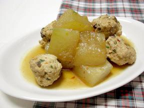 トウガンと肉団子のピリ辛煮物