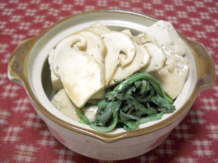 マツタケのすき焼き