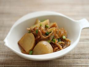 切り干しダイコンとジャガイモの煮物