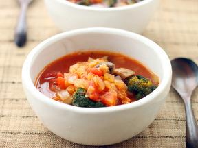 レンズ豆のトマト風味スープ