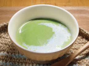 グリーンピースのポタージュスープ