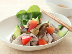 ゆで豚肉と季節野菜のサラダ