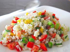 夏野菜のライスサラダ
