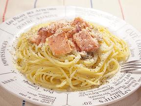 サケのクリームスパゲッティ