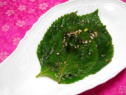 えごまの葉のしょうゆ漬け(ケンニプチャンアチ)