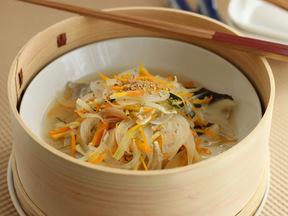 白身魚と野菜のさっぱり蒸し