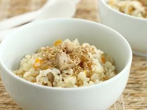 野菜と鶏肉の炒めご飯