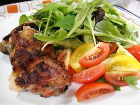 塩麹鶏の香味焼き