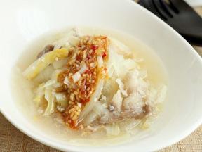 白菜と豚肉の塩麹蒸し
