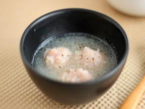 レンコンボウルのスープ