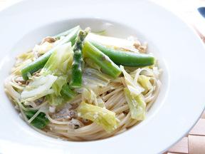 春野菜のスープスパゲッティ