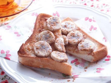 シナモンミルクバナナトースト