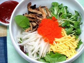 とびこと野菜のビビンバ(アルパプ)