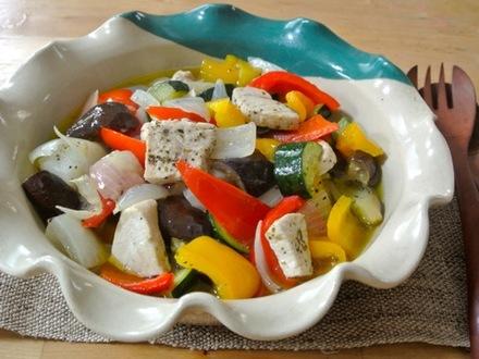 カジキと夏野菜のオイル煮