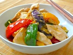 鶏肉と夏野菜のグリル ショウガ漬け
