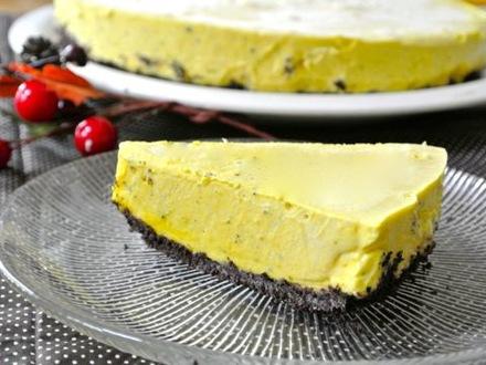 カボチャのレアチーズケーキ