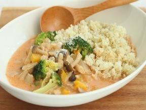 クスクス&野菜のトマトクリームスープ