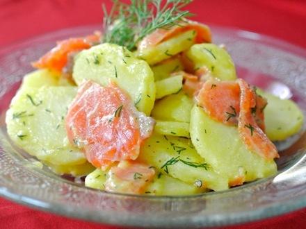スモークサーモンとジャガイモのサラダ