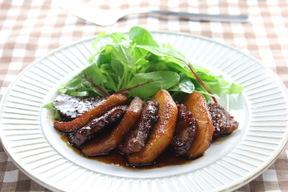 豚ヒレ肉のカラメルリンゴソテー