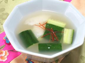キュウリの水キムチ(オイムルキムチ)