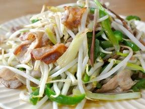 豚肉と島らっきょうの野菜炒め