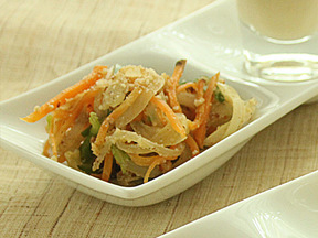 ソテー野菜のナッツ和え