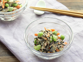枝豆とひじきのサラダ