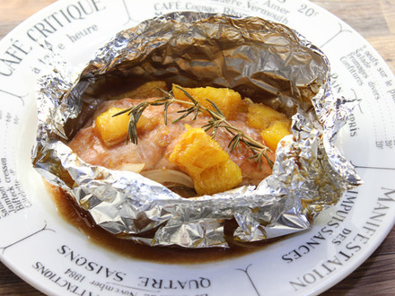 サケのオレンジ風味ホイル焼き