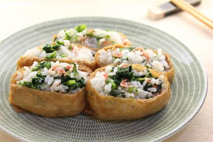 菜の花のいなり寿司