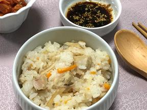 鶏肉とショウガの炊き込みご飯