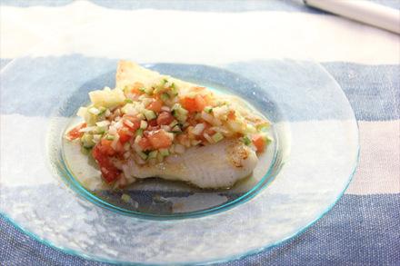 白身魚のラビゴットソース