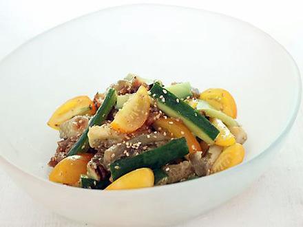 焼き野菜と梅の和え物