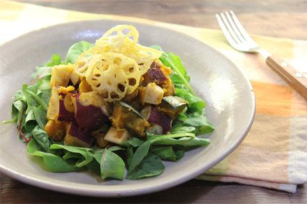 秋野菜のホットサラダ