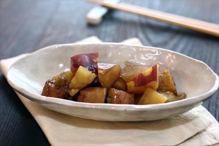 ゴボウ天とサツマイモの甘辛煮